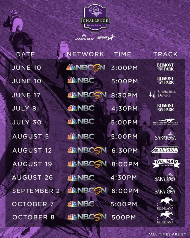 2017 Breeders Cup Challenge Television Schedule Released