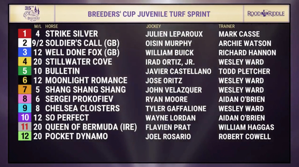 Breeders Cup 2018 Post Positions And Odds