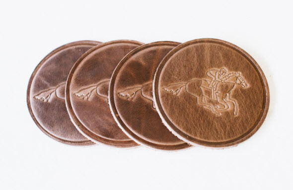 Leather Horse Racing Coasters